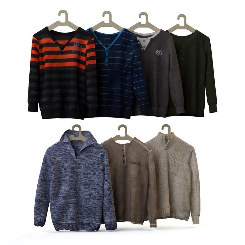 3d max fashionable men s shirt