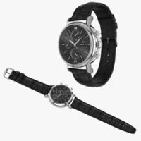3d model of realistic iwc portofino chronograph