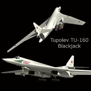 3d model tupolev blackjack