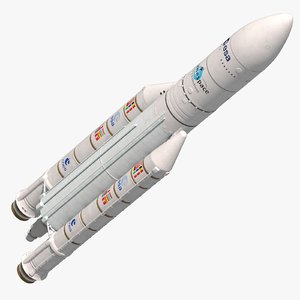 ariane 5 eca rocket launch 3d model