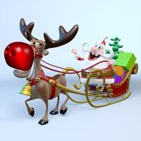 santa claus reindeer rudolph max