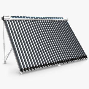 solar water heater 3d max