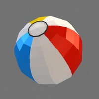 low poly beach ball (game ready)