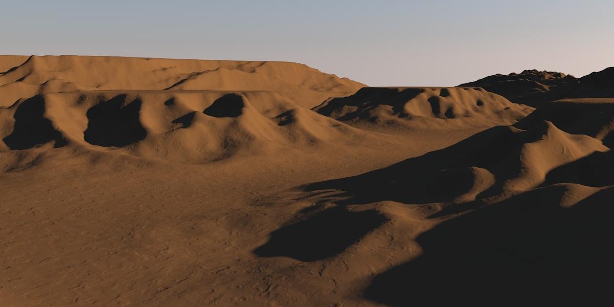 desert landscape 3d c4d