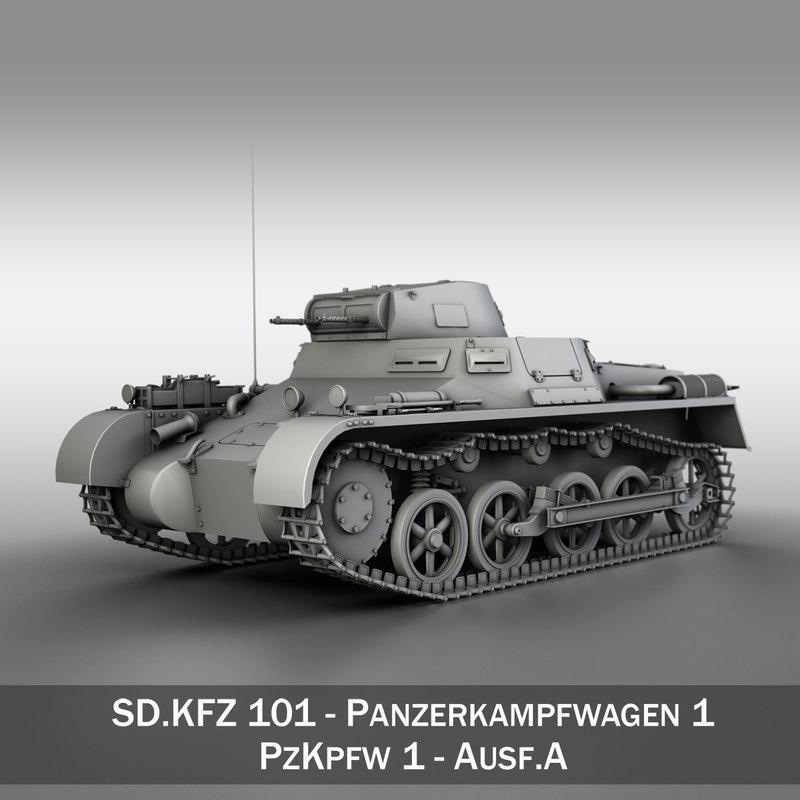 panzer light tank pzkpfw 3d model