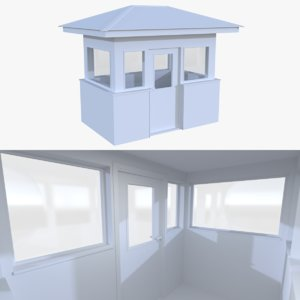guard building interior 3d model