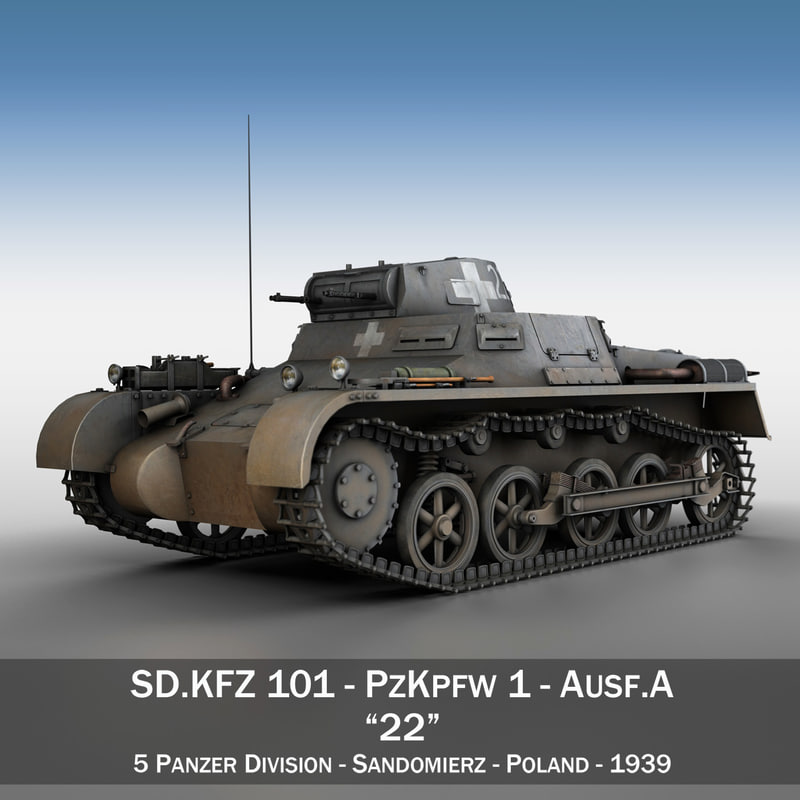 panzer light tank pzkpfw 3d c4d