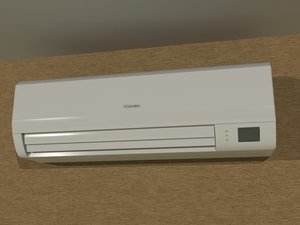 ac indoor split unit 3d max