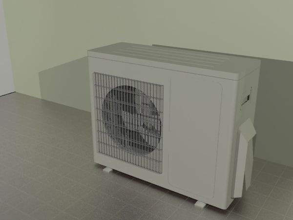 ac outdoor split unit 3d max