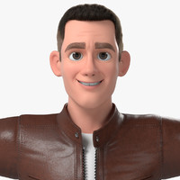3d ryan cartoon man handsome model