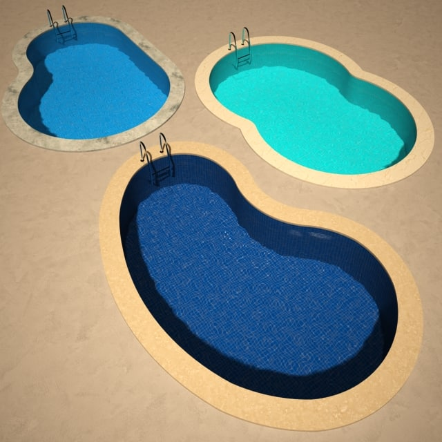 garden pool 3d model