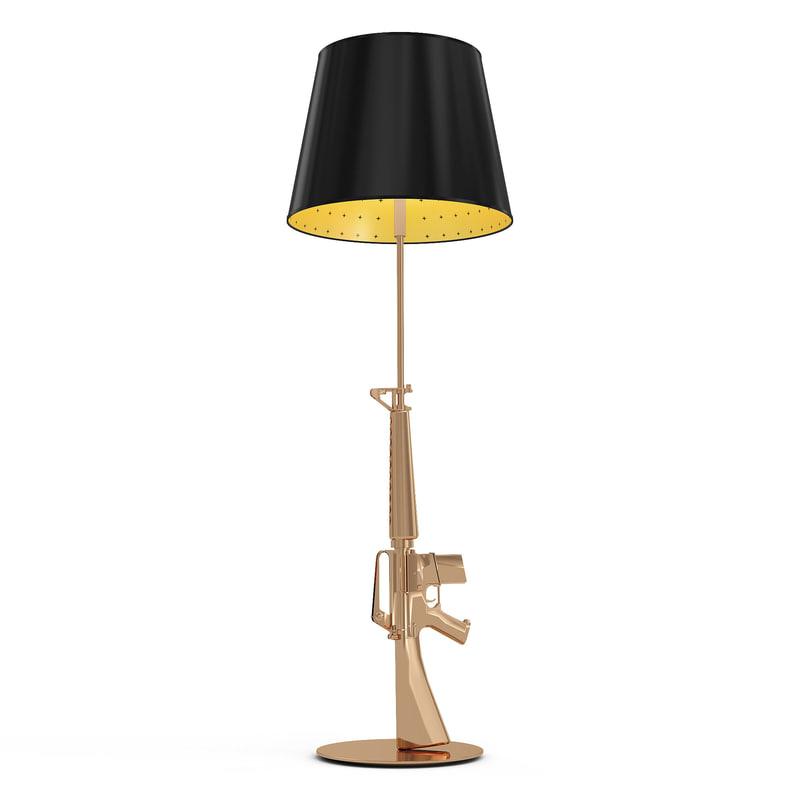 3d guns lounge floor lamp