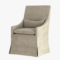 Restoration Hardware BELGIAN SLOPE ARM SLIPCOVERED ARMCHAIR