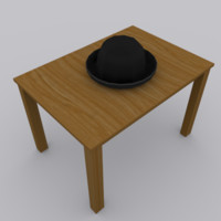 cap modeled blender 3d 3ds