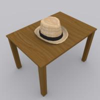 hat modeled blender 3d model