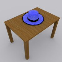hat modeled blender 3d model