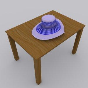 3d model hat modeled blender