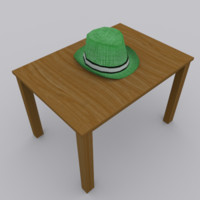 3d hat modeled blender model