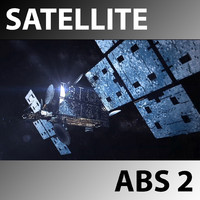 space satellite abs 2 3d model