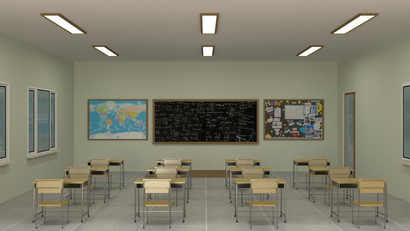 3ds classroom blender dae