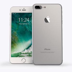 3d phone 7 silver
