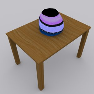 beanie hat modeled 3ds