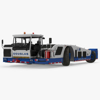 3d max aircraft towing tractor douglas