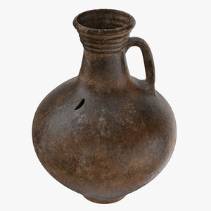 ceramic wine jug 01 3d model