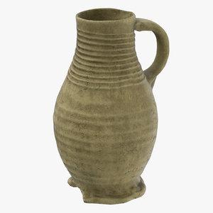 ceramic wine jug 02 3d c4d