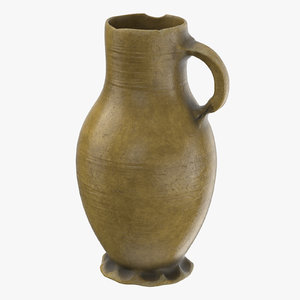 3d model of ceramic wine jug 03
