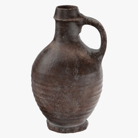 ceramic wine jug 04 3d c4d