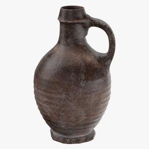 ceramic wine jug 04 3d c4d