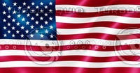 USA flag blowing in the wind illustration