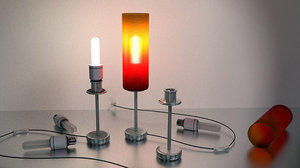 tablelamp rigged cable 3d 3ds