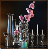 decorative flower vase set max
