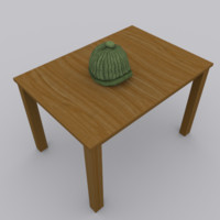 beanie hat modeled 3d model