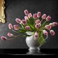delicate tulip flowers fbx