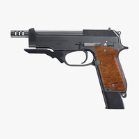 3d model machine pistol beretta 93r