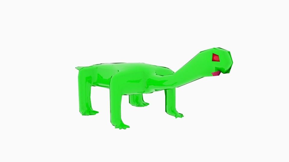 long neck mini monster 3d obj
