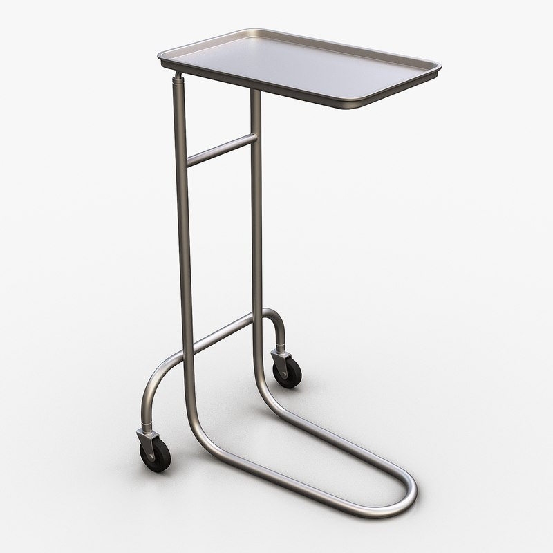 3d model medical mayo stand