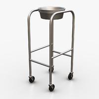 medical solution stand 3d model