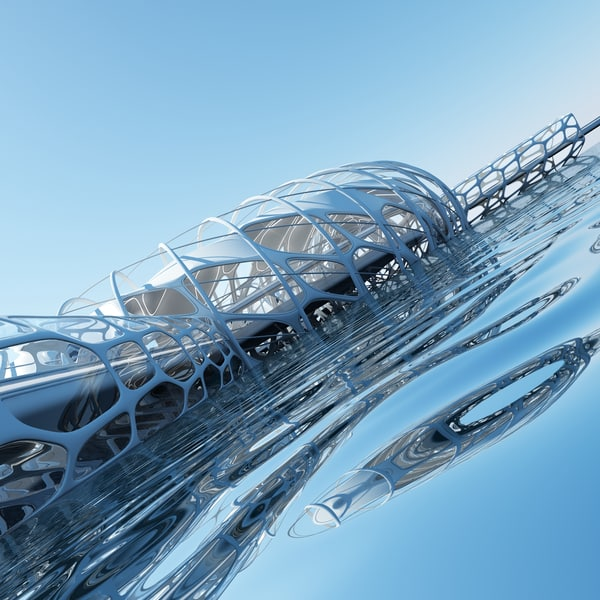 architectural structure 3d max