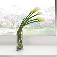 3d model white calla lilies