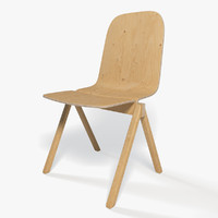 plywood chair 3d max