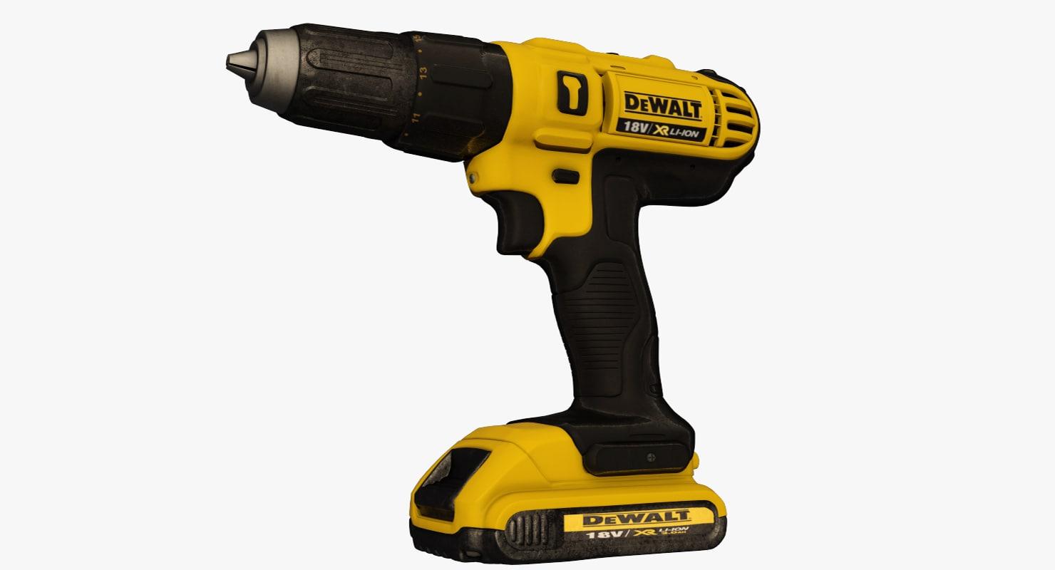 cordless drill dewalt 3d max