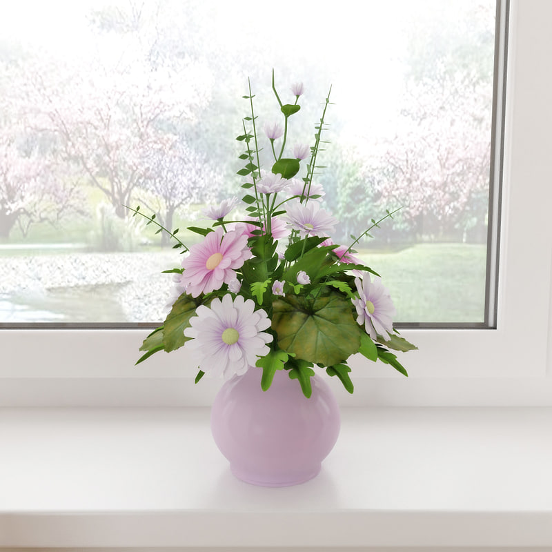 3d flowers vase