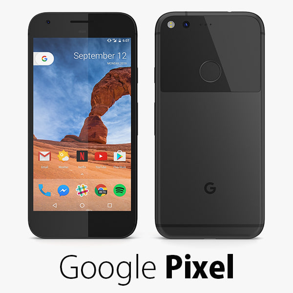 3d model of google pixel