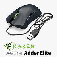 razer deatheradder elite computer mouse obj