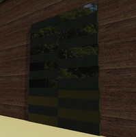 unique black glossy door 3d max