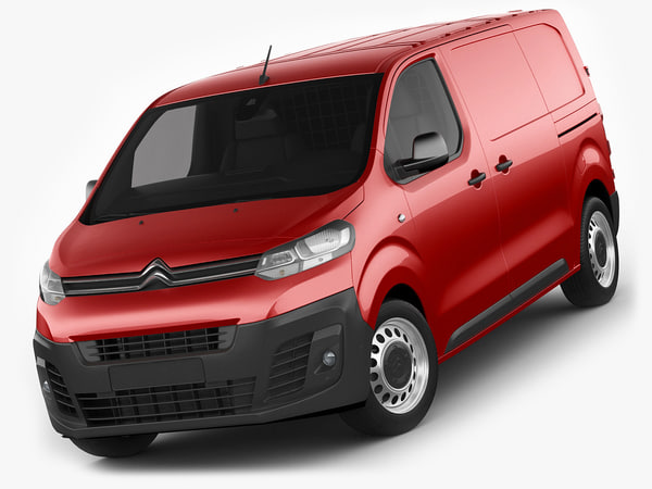 citroen jumpy 2016 3d model